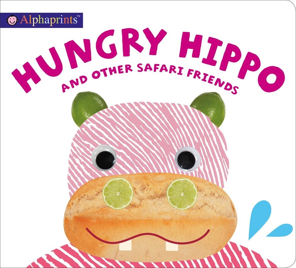 Priddy Books Alphaprints: Hungry Hippo and other safari animals