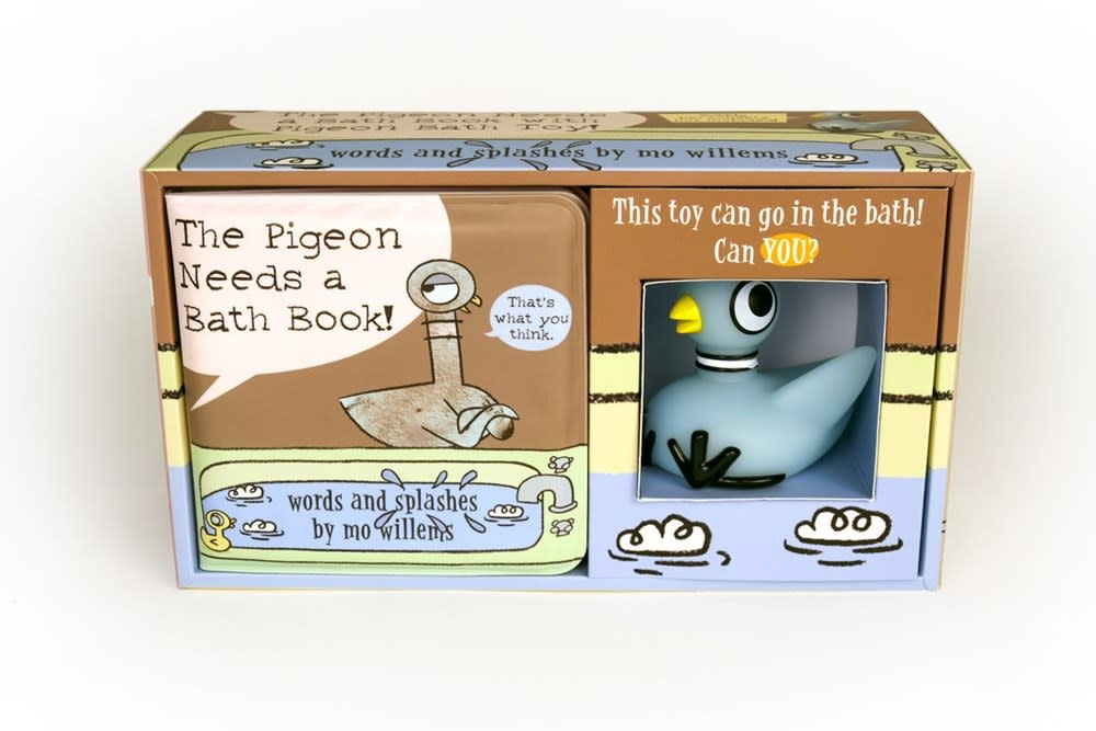 Hyperion Books for Children The Pigeon Needs a Bath! (Bath Book with Pigeon Bath Toy!)