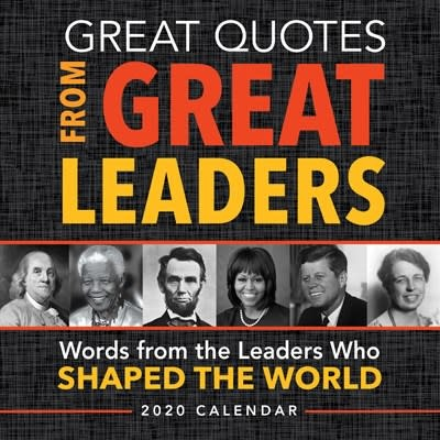 Sourcebooks 2020 Great Quotes from Great Leaders Boxed Calendar