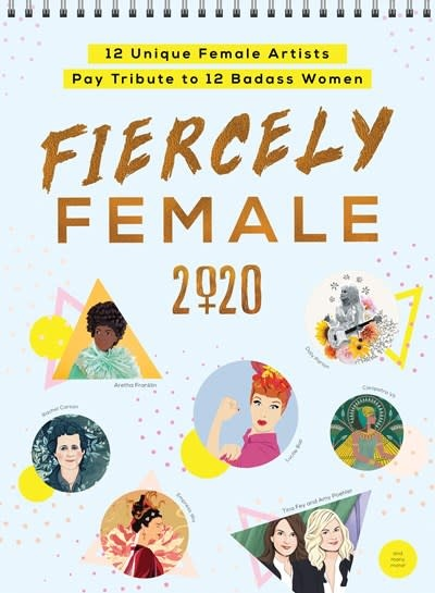 Sourcebooks 2020 Fiercely Female Wall Poster Calendar