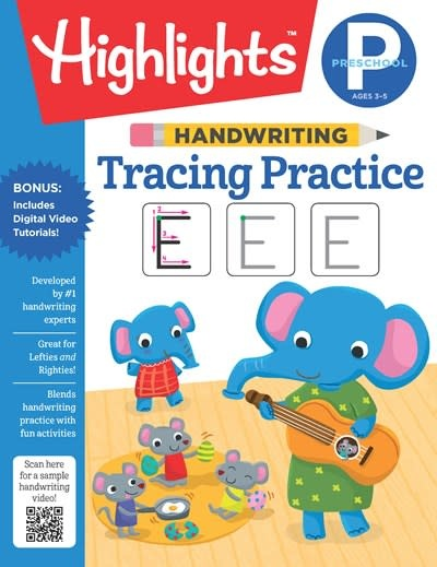 Highlights Learning Handwriting: Tracing Practice