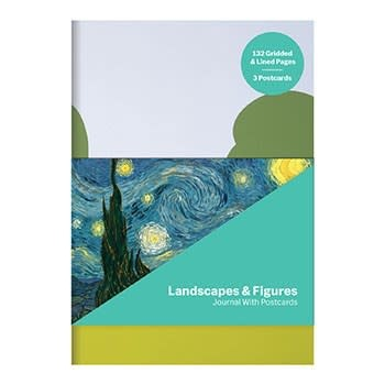 Galison MoMA Landscapes & Figures Journal with Postcard Set