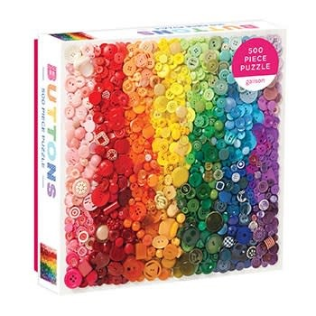 Galison Rainbow Buttons 500 Piece Puzzle