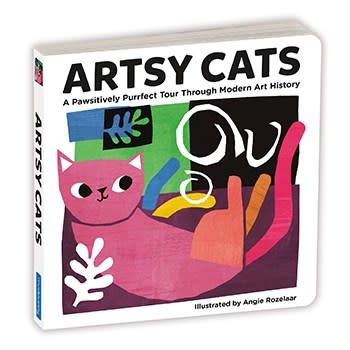 Mudpuppy Artsy Cats Board Book