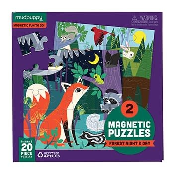 Mudpuppy Forest Night & Day Magnetic Puzzles