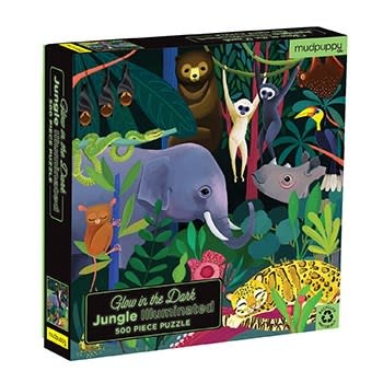 Mudpuppy Illuminated: Jungle (500 Piece Glow-in-the-Dark Family Puzzle)