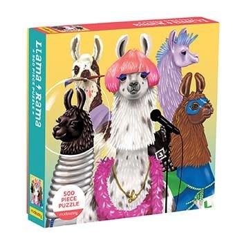 Mudpuppy Llama Rama 500 Piece Family Puzzle