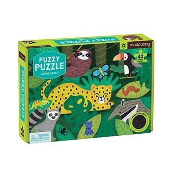 Mudpuppy Rainforest Fuzzy Puzzle