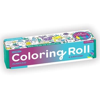 Mudpuppy Purrmaid Mini Coloring Roll