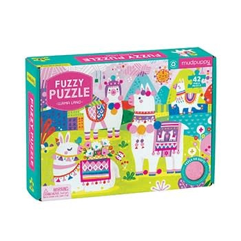 Mudpuppy Llama Land Fuzzy Puzzle
