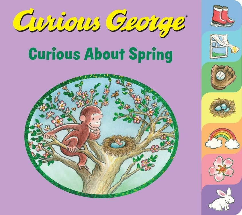 HMH Books for Young Readers Curious George: Curious About Spring (Tabbed Board Book)
