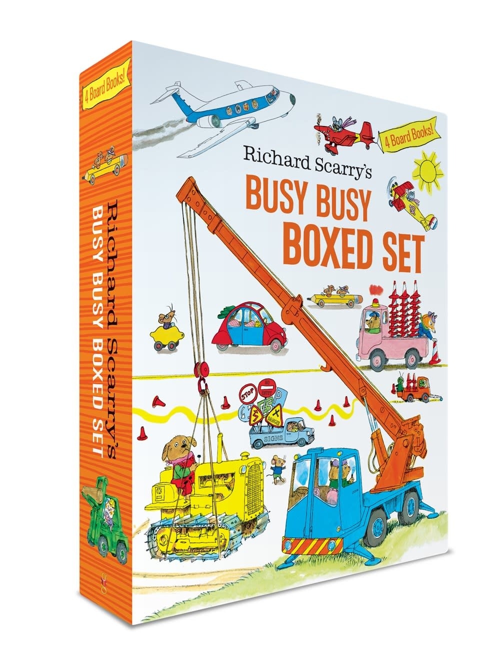 Golden Books Richard Scarry's Busy Busy Boxed Set (4 Books)