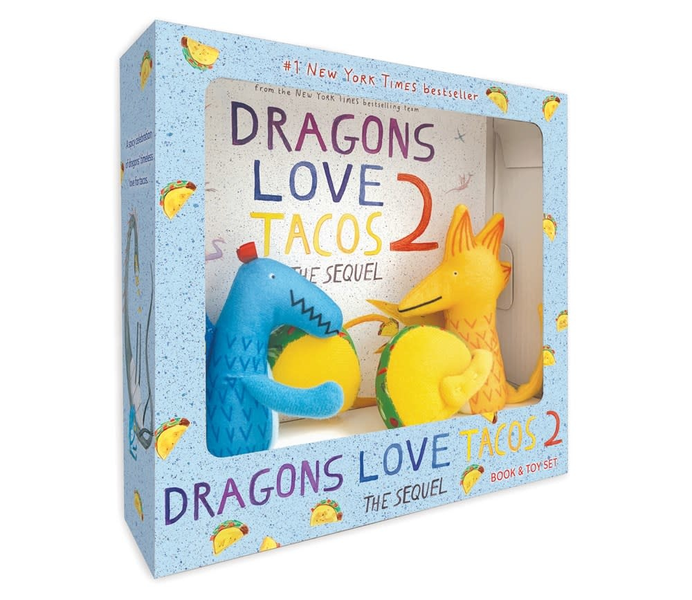 Dial Books Dragons Love Tacos 2 Gift Set (Book and 2 Plushes)