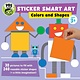 Downtown Bookworks PBS Kids Sticker Smart Art: Colors and Shapes