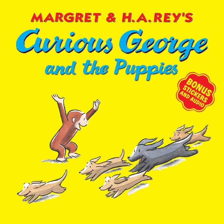 HMH Books for Young Readers Curious George: The Puppies (bonus stickers & audio)