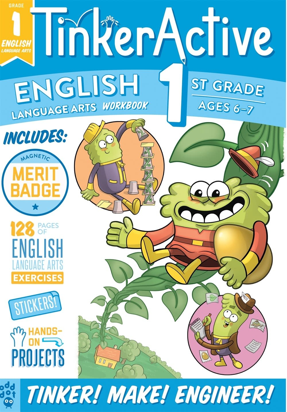 Odd Dot TinkerActive Workbooks: 1st Grade English