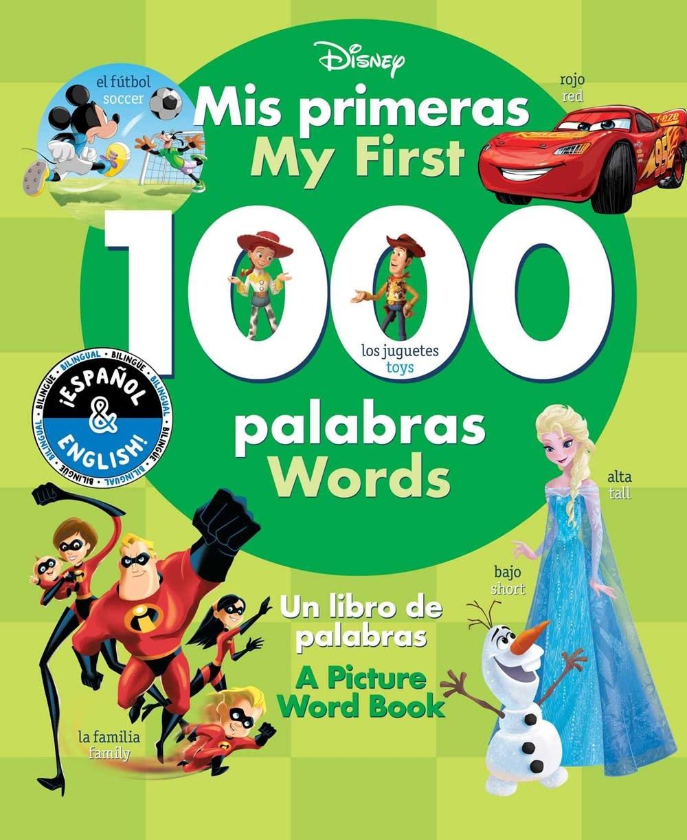 little bee books Disney: My First 1000 Words / Mis primeras 1000 palabras (English-Spanish)