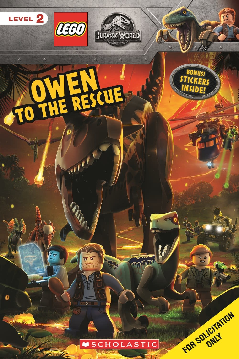 Scholastic Inc. LEGO Jurassic World: Owen to the Rescue (Scholastic, Lvl 2)