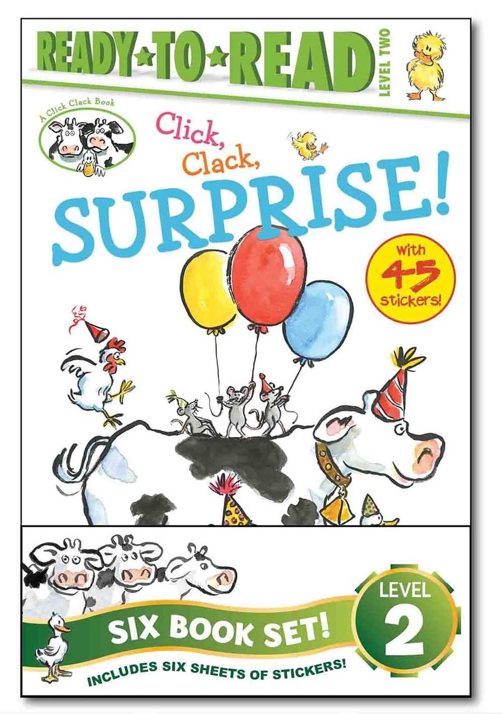 Simon Spotlight Click, Clack! Value Pack Boxed Set (6 Books, Ready-to-Read, Lvl 2)