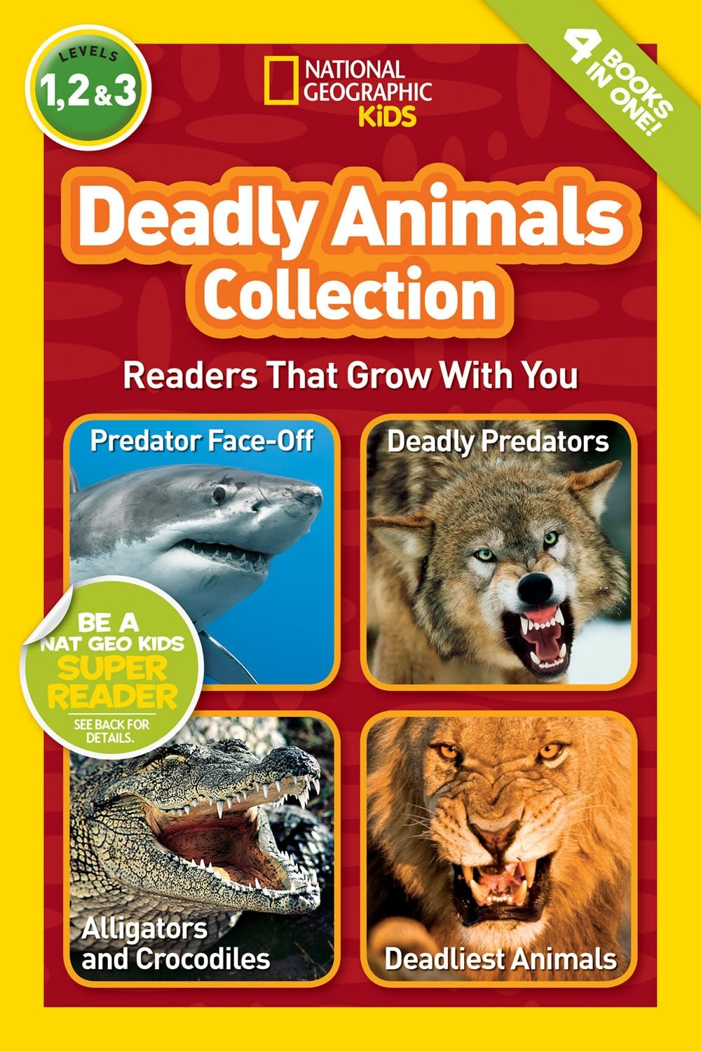 National Geographic Children's Books Deadly Animals Collection (4-in-1, Nat Geo Readers)