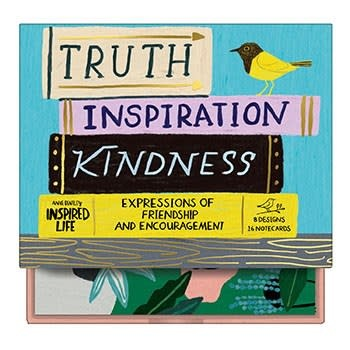Galison Anne Bentley Inspired Life: Truth, Inspiration, Kindness Greeting Assortment Notecards
