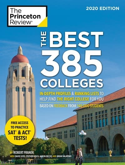 Princeton Review The Best 384 Colleges, 2020 Edition