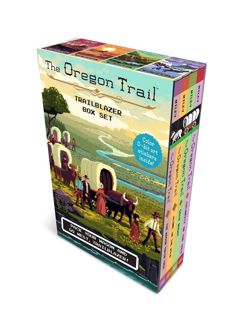 HMH Books for Young Readers Oregon Trail Trailblazer Boxed Set (4 Books, plus decals)
