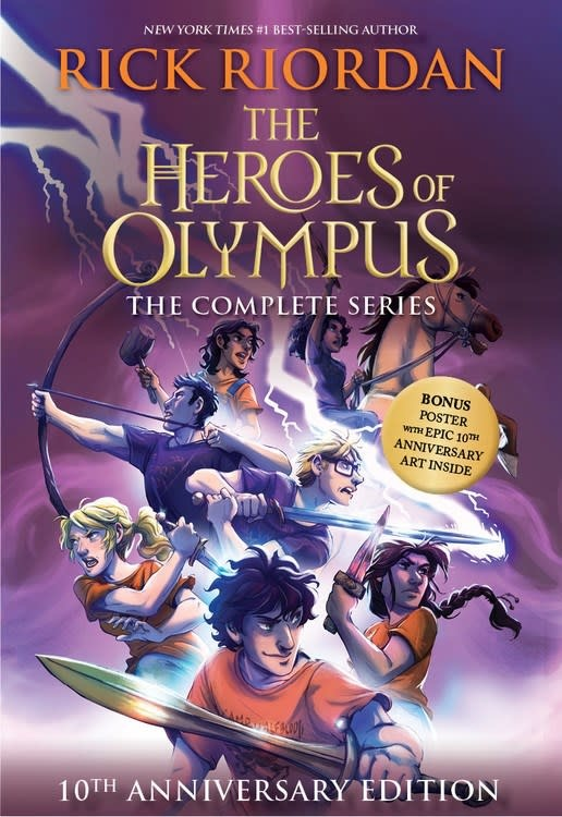 Disney-Hyperion Heroes of Olympus 10th Anniversary Boxed Set (#1-5)