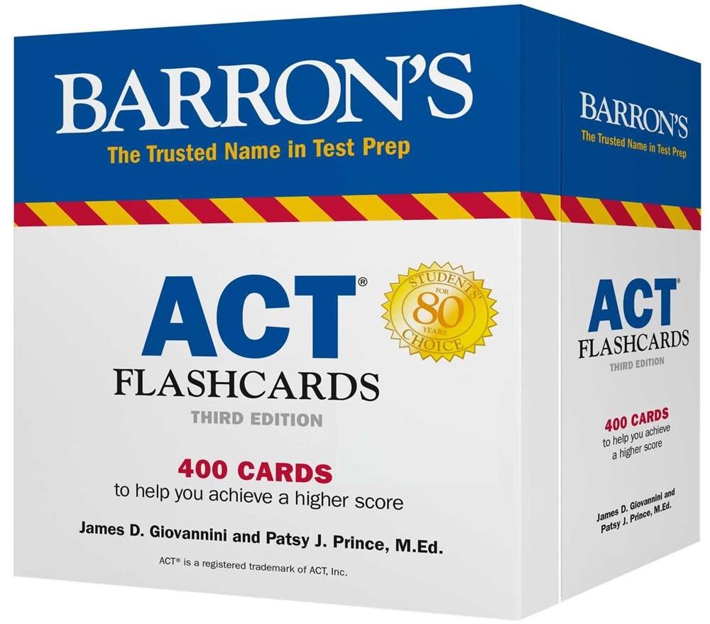 Barrons Educational Series Barron's Test Prep: ACT Flashcards