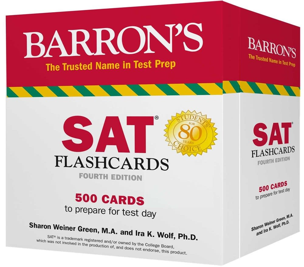 Barrons Educational Series Barron's Test Prep: SAT Flashcards