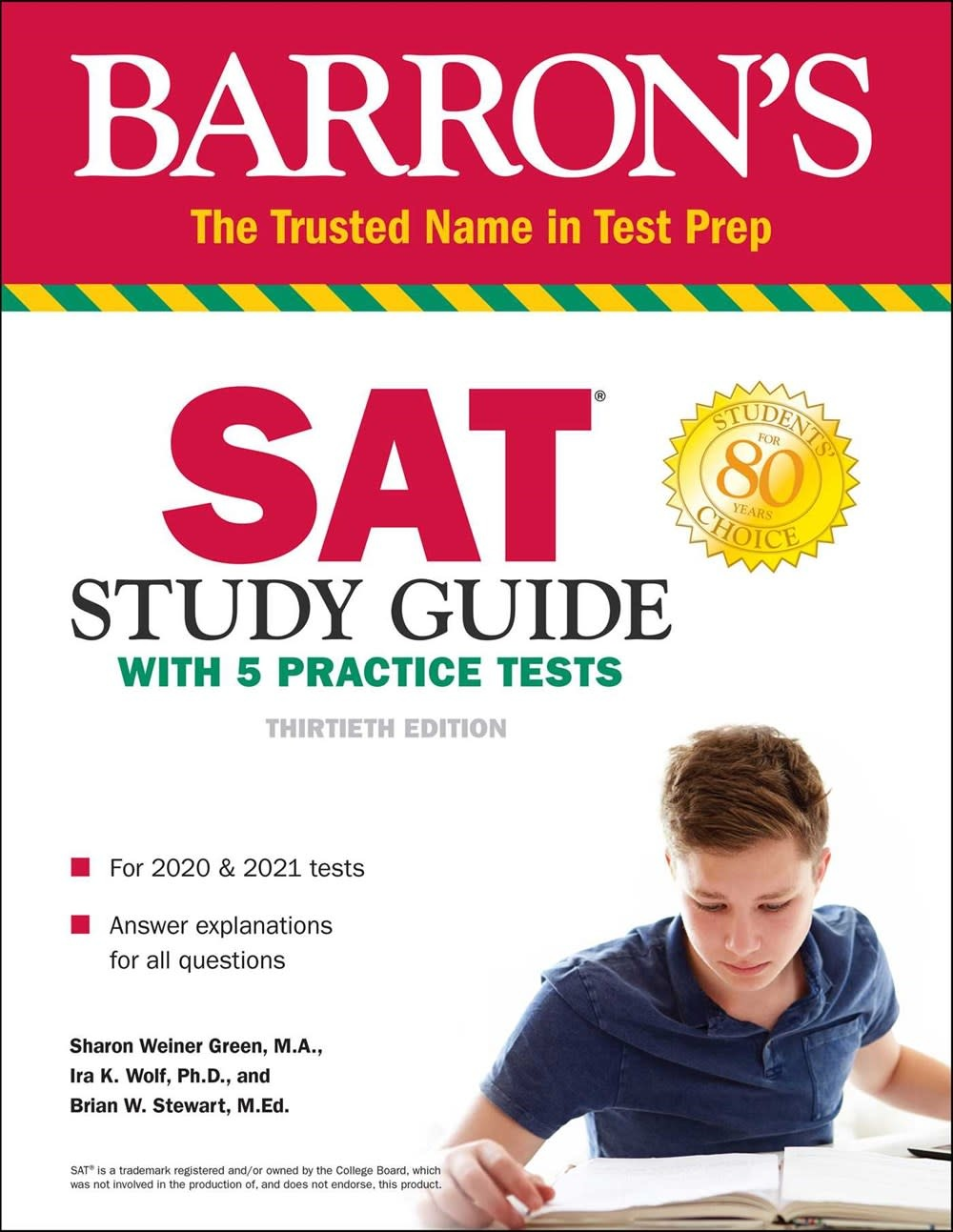 Barrons Educational Series SAT Study Guide with 5 Practice Tests