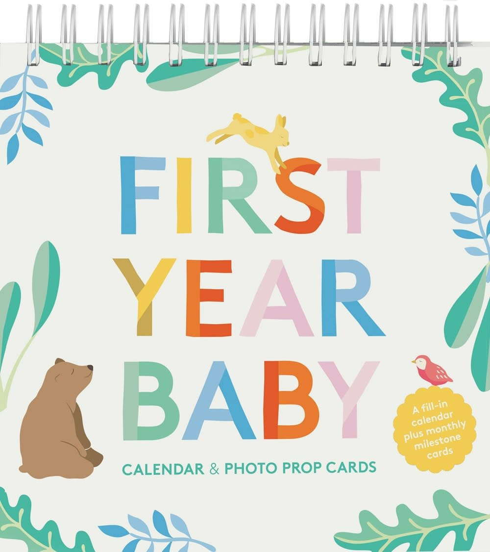 Chronicle Books First Year Baby (Calendar & Photo Prop Cards)