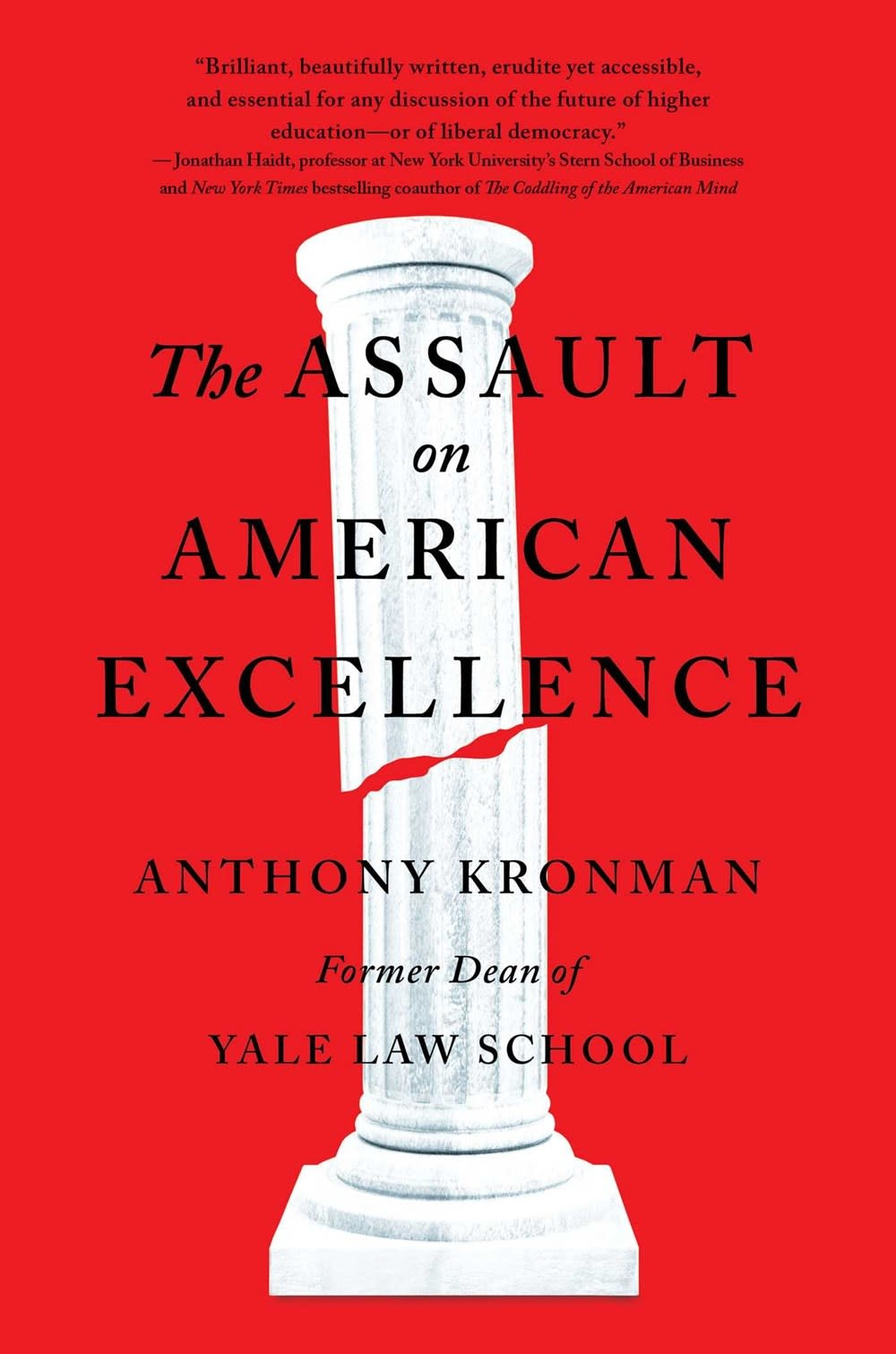 Free Press The Assault on American Excellence