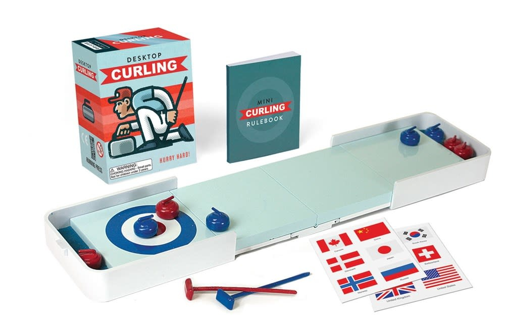 Running Press Miniature Editions Desktop Curling: Hurry Hard!