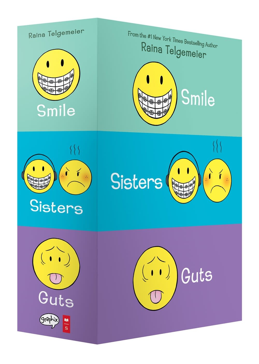 Graphix Smile, Sisters, and Guts: The Boxed Set (3 Books)