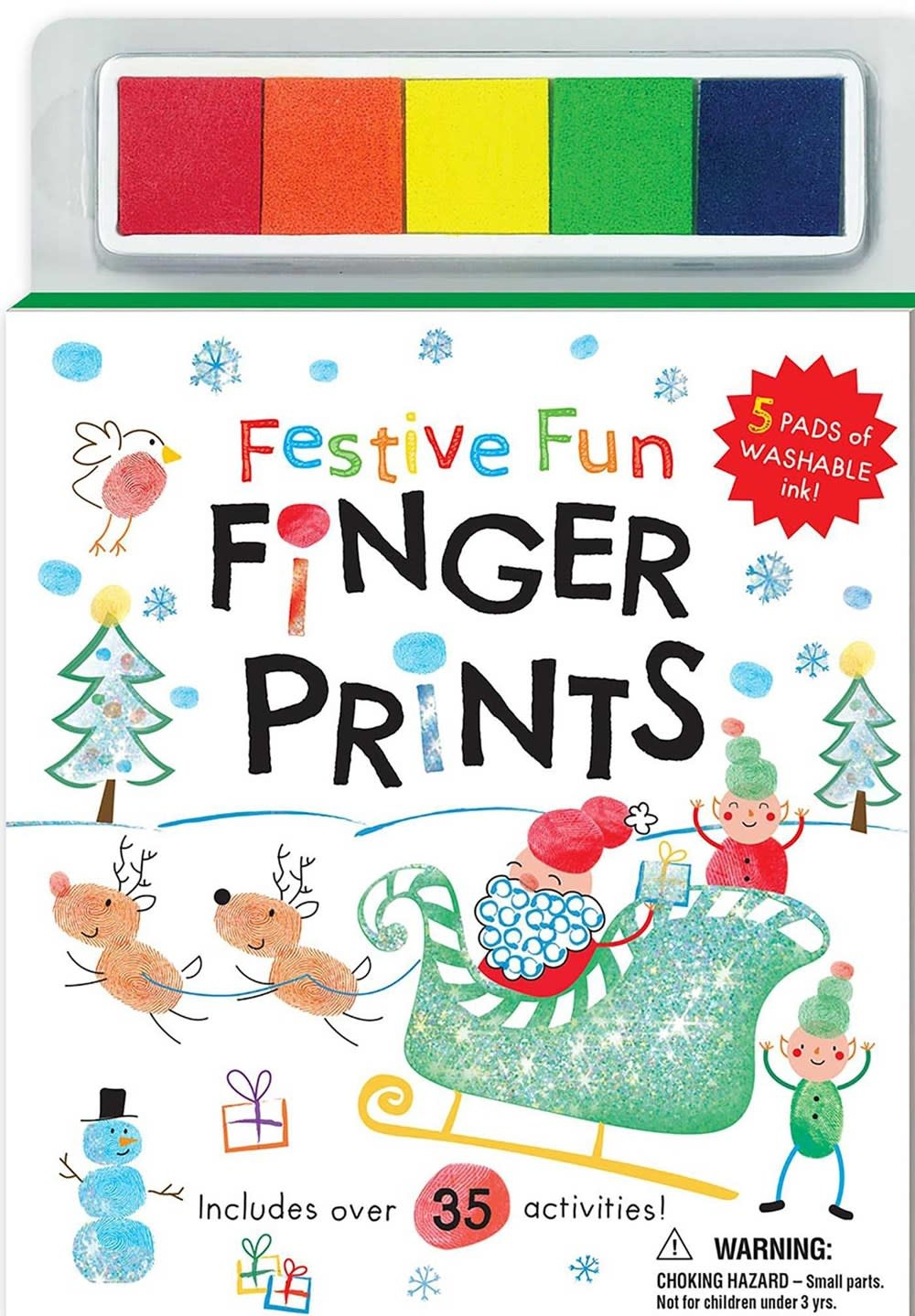 Silver Dolphin Books Festive Fun Finger Prints