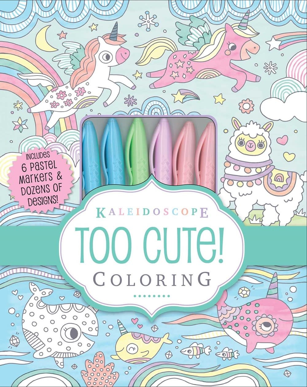 Silver Dolphin Books Kaleidoscope: Too Cute! Coloring