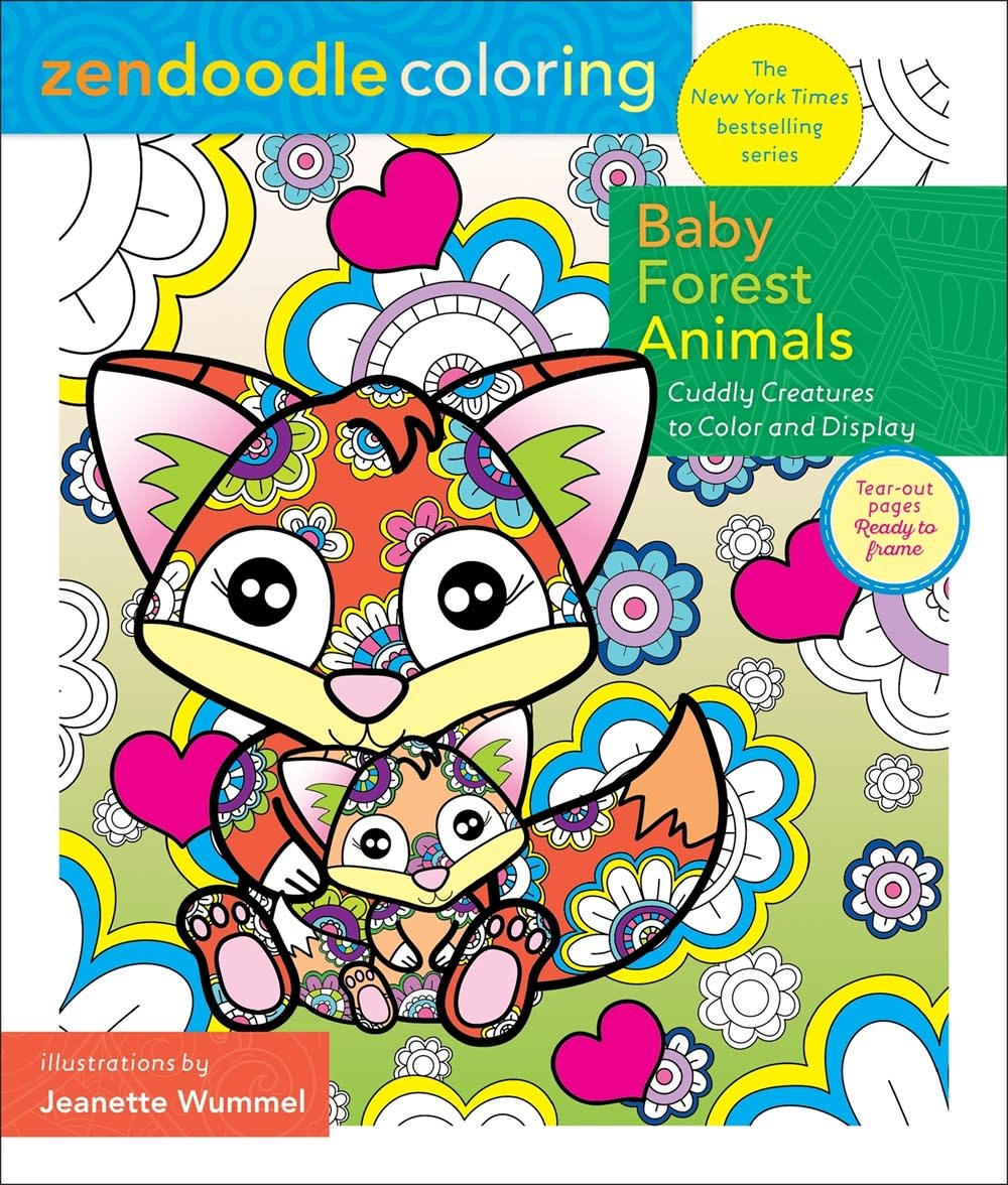 Castle Point Books Zendoodle Coloring: Baby Forest Animals