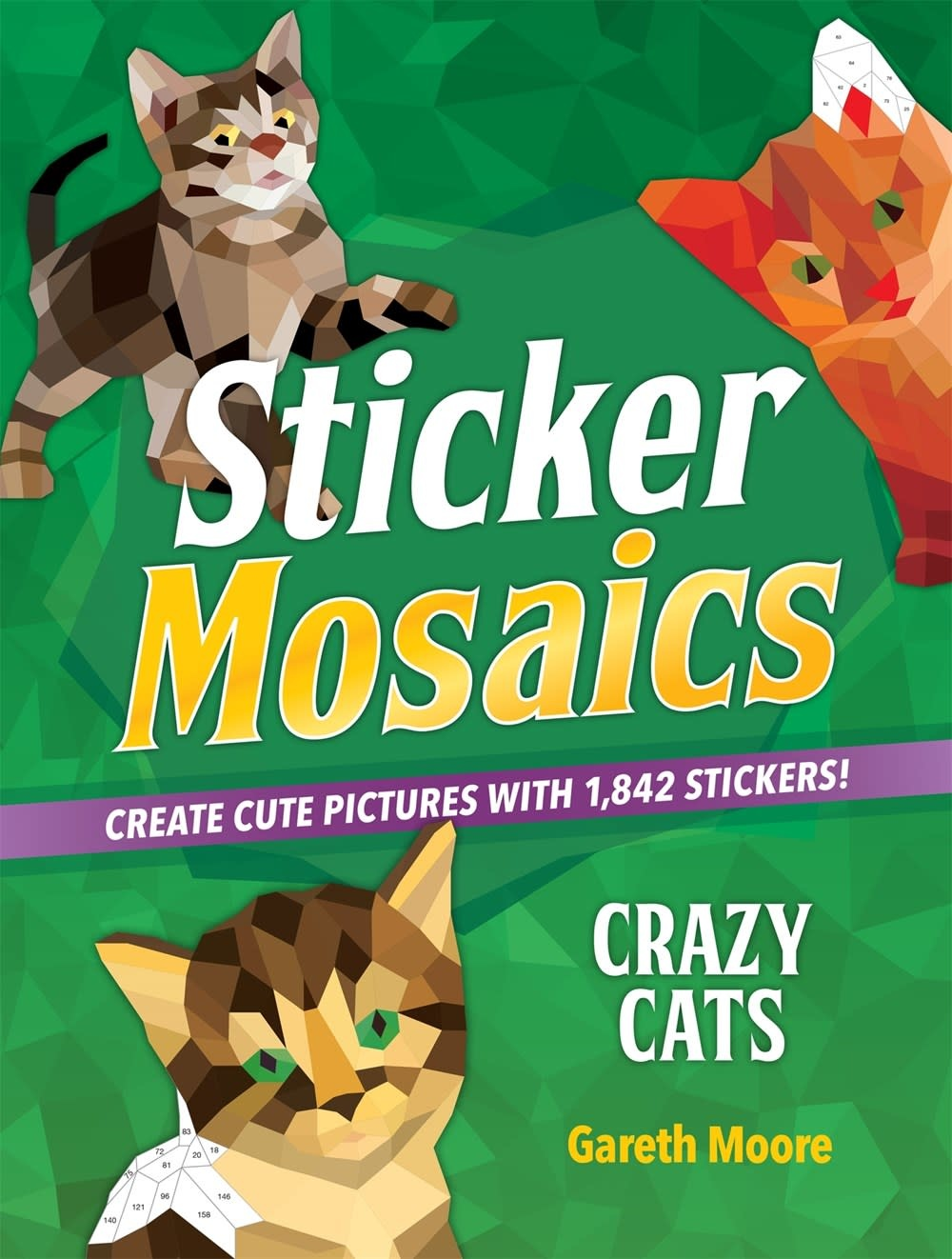Castle Point Books Sticker Mosaics: Crazy Cats