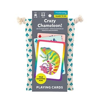 Mudpuppy Crazy Chameleon! Playing Cards to Go