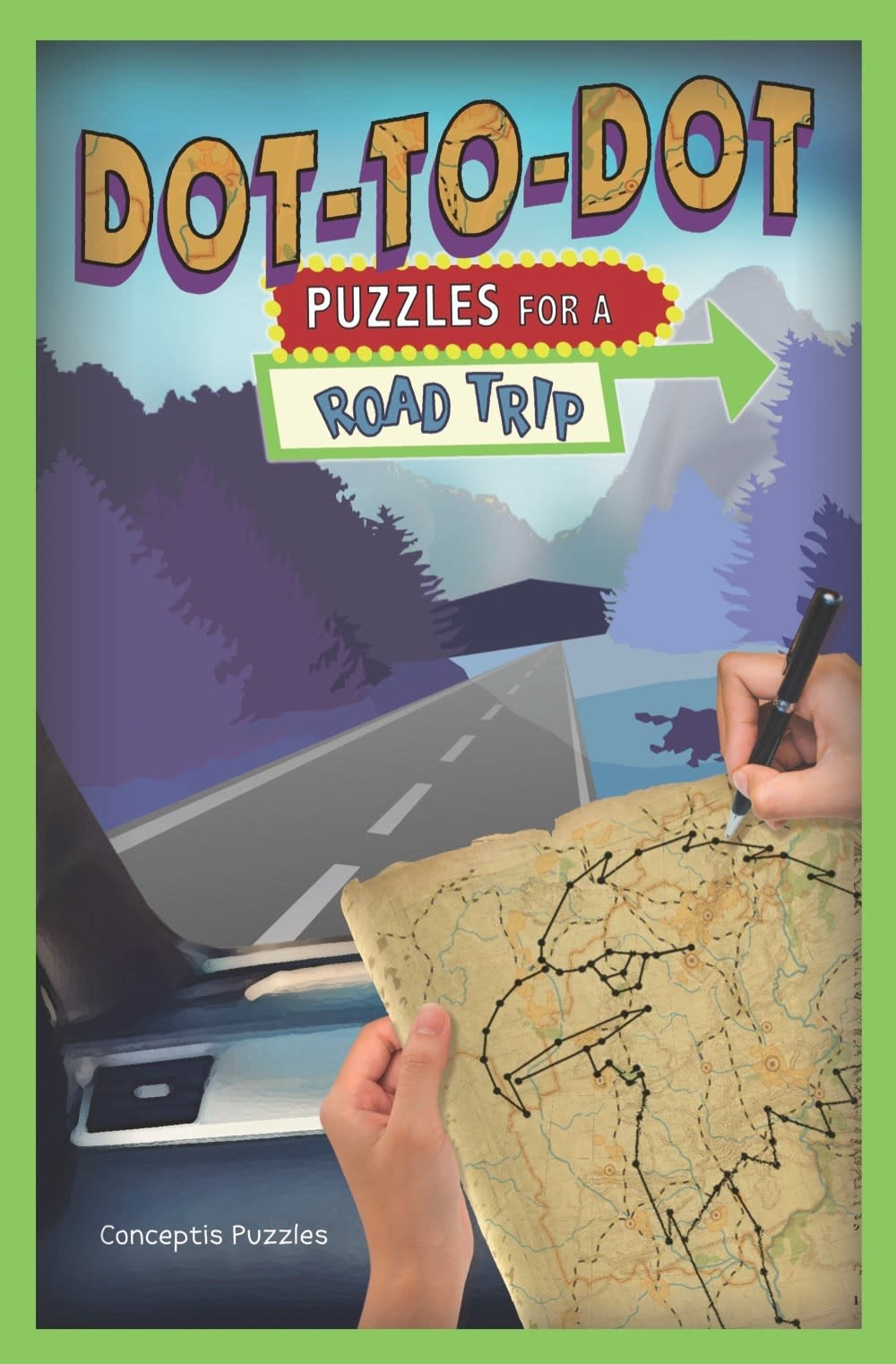 Puzzlewright Junior Puzzles for a Road Trip: Dot-to-Dot