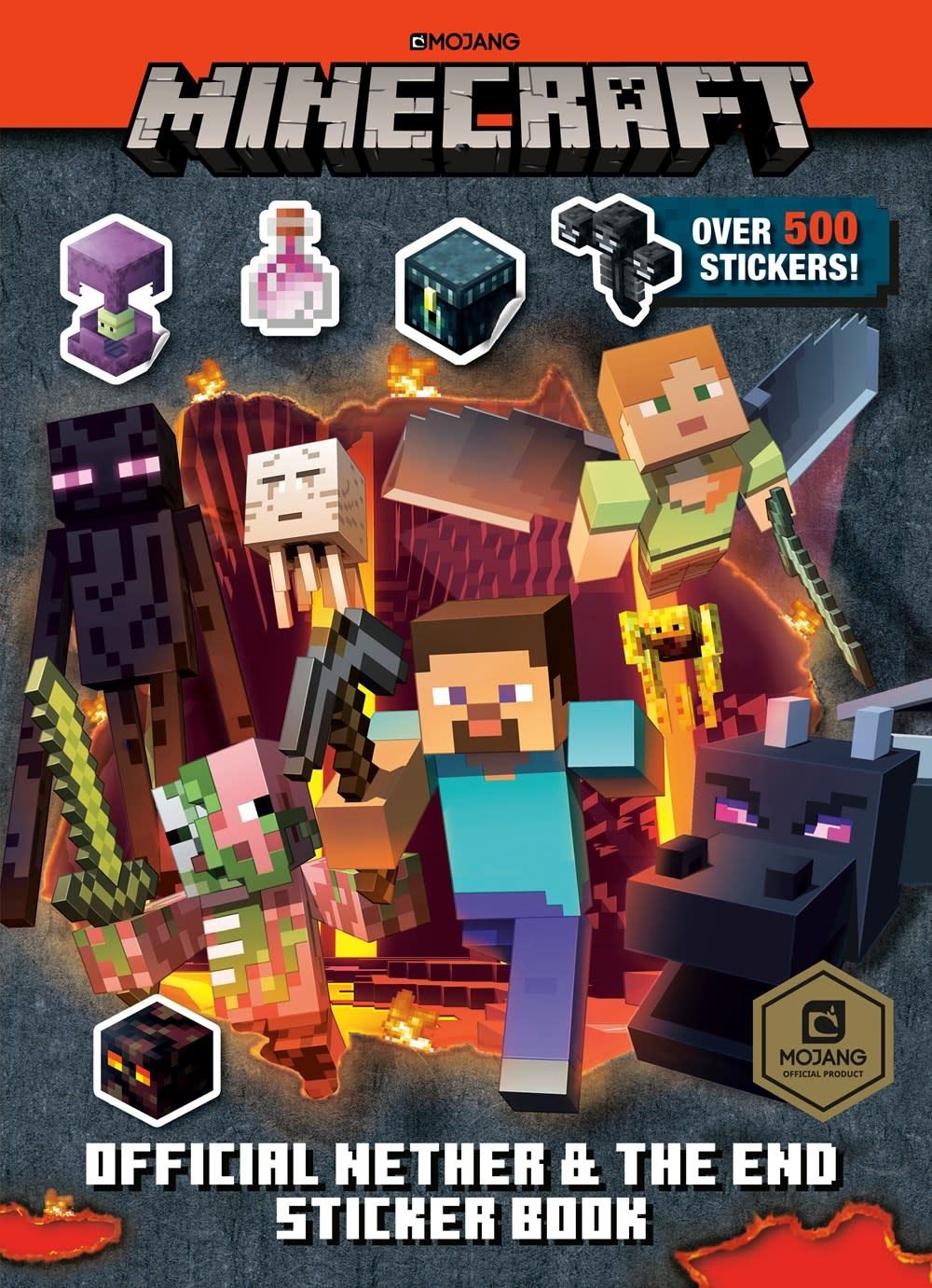Random House Books for Young Readers Minecraft Official: The Nether and the End Sticker Book