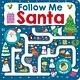 Priddy Books Maze Book: Follow Me Santa