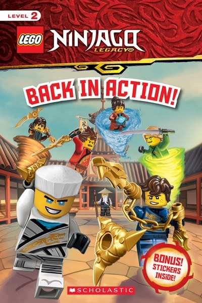 Scholastic Inc. Back in Action! (LEGO Ninjago: Reader with Stickers)