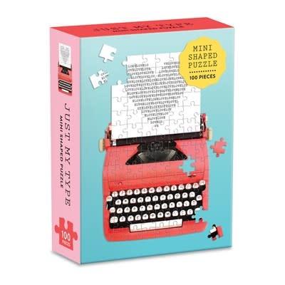 Just My Type Vintage Typewriter 100 Piece Mini Shaped Puzzle