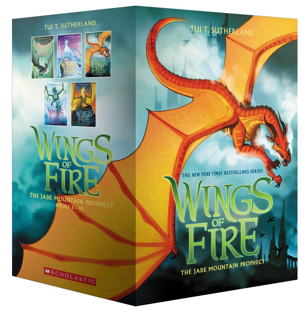 Scholastic Paperbacks Wings of Fire Boxed Set, Jade Mountain Prophecy (#6-10)