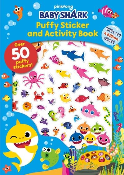 little bee books Pinkfong Baby Shark: Puffy Sticker and Activity Book