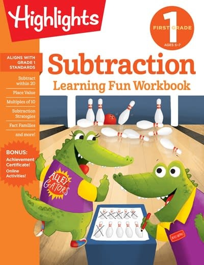 Highlights Learning First Grade Subtraction