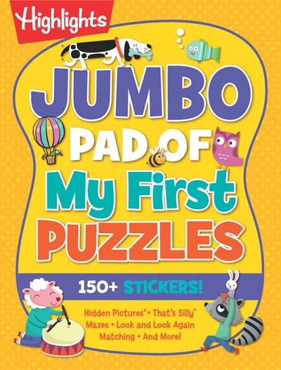 Highlights Press Jumbo Pad of My First Puzzles