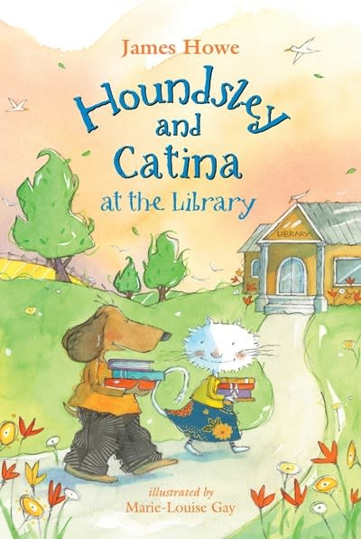 Candlewick Houndsley and Catina at the Library